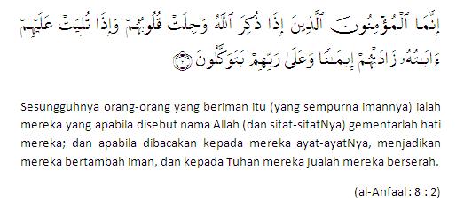 al anfaal 8 2 Salam Maal Hijrah 1432H